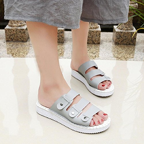 633375ed6 Fheaven Women Flat Sandals Slippers Shoes Summer Open Toe Leather Casual  Beach Chic Soft Sole Sandals