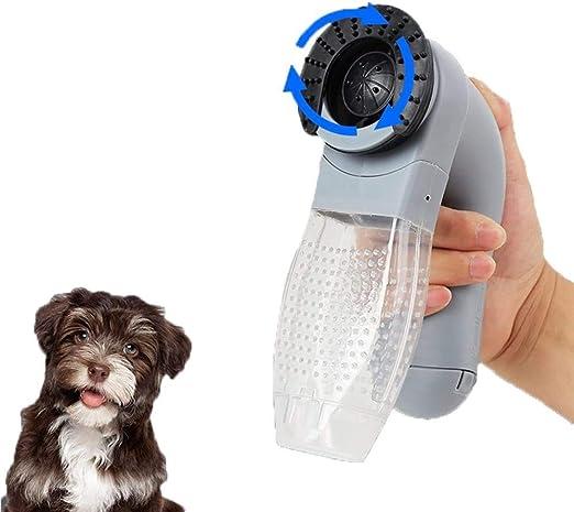 Popertr Hogar del animal doméstico eléctrico de depilación que aspira el pelo del animal doméstico portátil Aspirador Trimmer perro gato limpieza del masaje de pelo del animal doméstico removedor de l: Amazon.es: