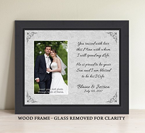Parents Of The Groom Gift, Personalize You Raised With Love This Man With Whom I Will Spend My Life Picture Frame