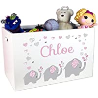 Childs Personalized Elephant Toy Box