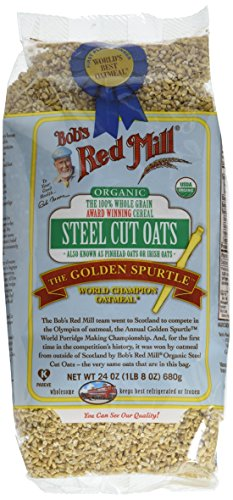 Bob's Red Mill Organic Steel Cut Oats, 24 Ounce (Pack of 4)