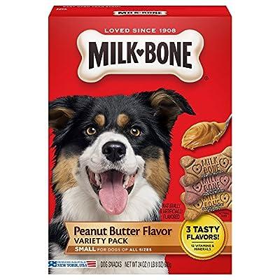 Milk-Bone Peanut Butter Flavor Dog Treats Variety Pack, Small/Medium