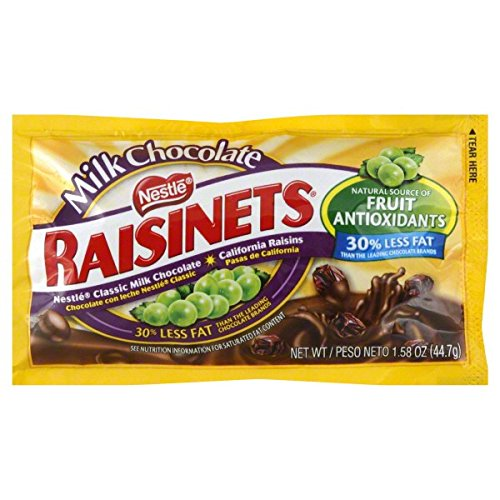 Raisinets Milk Chocolate Covered Raisins 1.58 OZ (Pack of 20) + (6 Pack of M&M Milk Chocolate 1.69oz) (Raisinets Raisins Covered Chocolate)