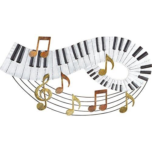 UPC 191121007389, Music Notes and Piano Keyboard Wall Art