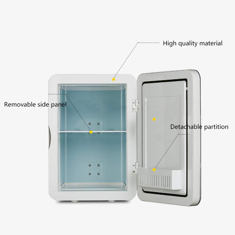 Refrigerador Frigor/íFico Peque/ñO de Una Sola Puerta 6L Mini Nevera-Calentador Congelador de Vino Silencioso Refrigerador de Bebidas de Uso Doble Para ei Hogar Adecuado Para El Hogar Oficina