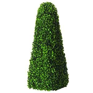2x 100cm Gardman obelisco decorativo topiario buxus artificial de hojas efecto 02807