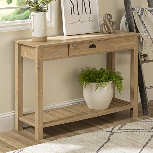 WE Furniture AZF48CYETNT Country Style Entry Console Table, 48
