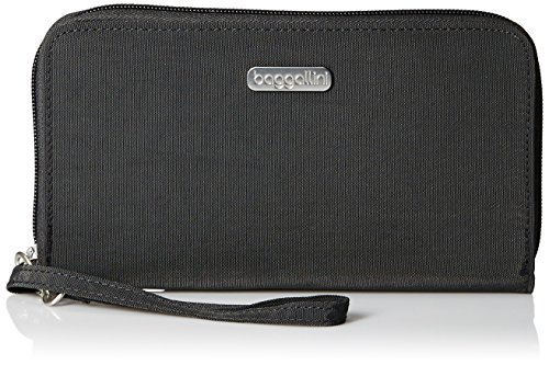Baggallini Women's RFID Continental Wallet, charcoal ()
