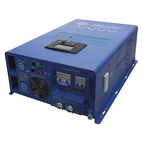 AIMS Power (PICOGLF80W48V240VS) 8kW 48V DC to 120/240V AC Pure Sine Inverter Charger (Aims Split Phase Inverter compare prices)