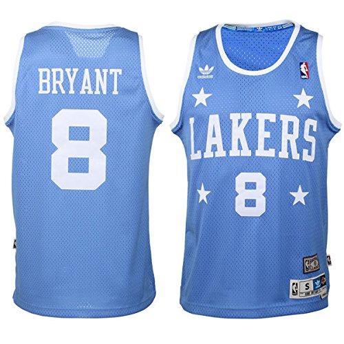 adidas Kobe Bryant Los Angeles Lakers Light Blue Throwback Swingman Jersey X-Large