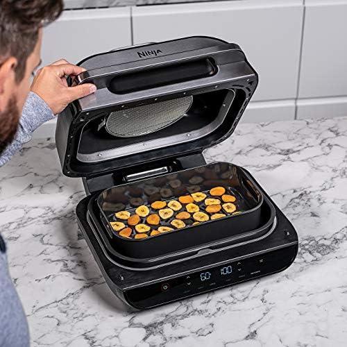 Ninja Foodi MAX Health Grill and Air Fryer, 5.7 L Cooking pot, 3.8 L Crisper basket, Grey/Silver