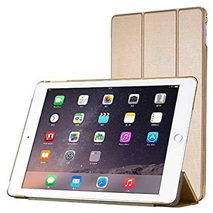 Kapa Leather Smart Case [Auto Sleep/Wake Function] Flip Cover for Apple Ipad Pro 2/9.7 inch   Gold Cases   Covers