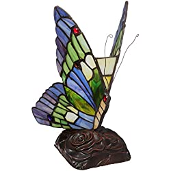 Chloe Lighting CH09B221NL 5-Inch Wide 1-Light Tiffany-Style Butterfly Light