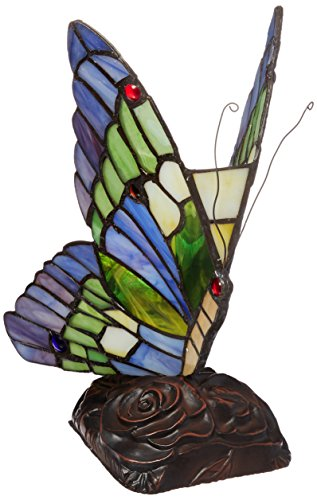 Chloe Lighting CH09B221NL 5-Inch Wide 1-Light Tiffany-Style Butterfly - Panel Antique Butterfly
