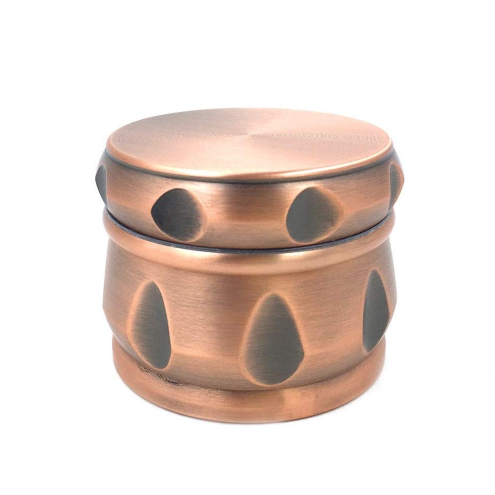 Yzyamz Herb Grinder, Aluminum Four-layer Bronze Drum-shaped Grinding Machine Portable, Manual Grinding Machine, Bench-top Grinding Machine, 2.5'' (63Mm) by Yzyamz