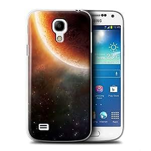 STUFF4 Phone Case / Cover for Samsung Galaxy S4 Mini / Orange Eclipse Design / Space/Cosmos Collection