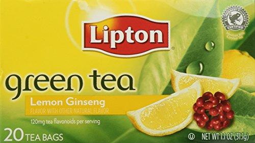 Lipton Lemon Ginseng Green Tea (20-Ct) (Pack of 3)