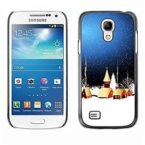 YOYO Slim PC / Aluminium Case Cover Armor Shell Portection //Christmas Holiday Magical Town 1124 //Samsung Galaxy S4 Mini