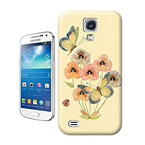 Unique Phone Case Flowers and birds Flowers in full bloom, insect nectar Hard Cover for samsung galaxy s4 cases-buythecase