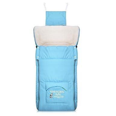 Vbiger Sacos de niños invierno Saco de dormir para bebé 0~3 años 2.5 Tog