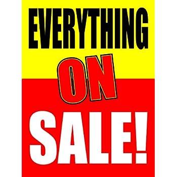 Amazon.com: Venta de purga ventana venta signo carteles ...