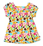 Zutano Little Girls' Print Short Sleeve Viola Top,Gumballs,2T