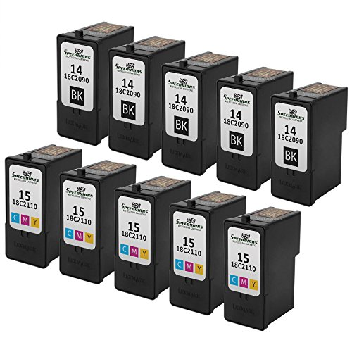 Speedy Inks - Remanufactured Lexmark #14 18C2090 Black & ...