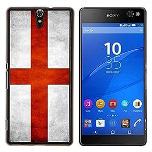 EJOOY---Cubierta de la caja de protección para la piel dura ** Sony Xperia C5 Ultra ** --Nacional bandera de la nación País Inglaterra