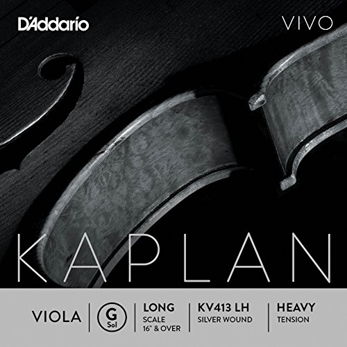 D'Addario KV413 LH Kaplan Vivo Viola G String by D'Addario Woodwinds