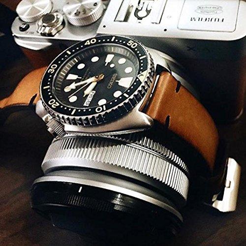 Custom 22mm Handmade Premium Calf Leather Watch Band Gunny Straps - 2010 Serie