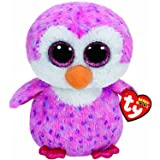 TY Beanie Boos–Glider, Penguin, 40cm, Pink (United Labels Iberian 37060TY)