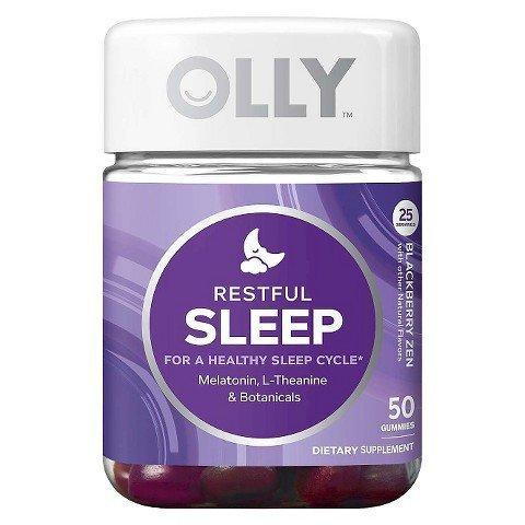 Olly Restful Sleep Blackberry Zen Vitamin Gummies - 50 Count TRG