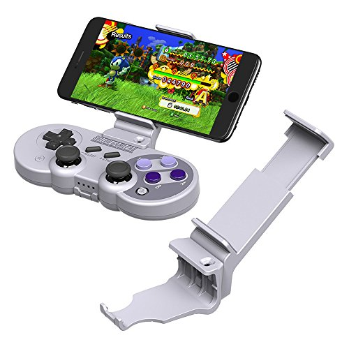 MOSTO 8Bitdo SF30 Pro Game Controller Wireless Bluetooth Gamepad 6-Axis Retro Design Gamepad For Android Phone/Tablet/PC/Steam/Nintendo Switch (8Bitdo Clip Holder) For Sale