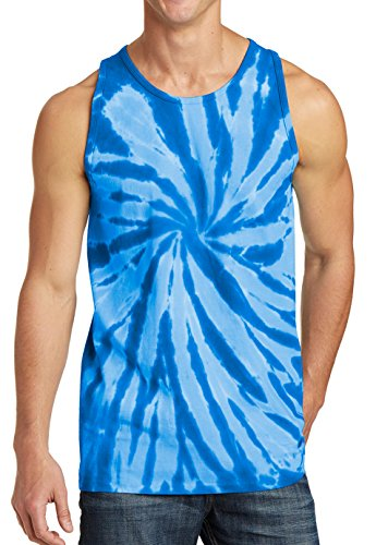 Tank Top Tie Dye Summertime 2017 Club Cruise Dead Swirl Royal Blue S ()