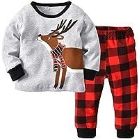 Girls Boys Christmas Pajamas Kids Clothing Set Sleepwear
