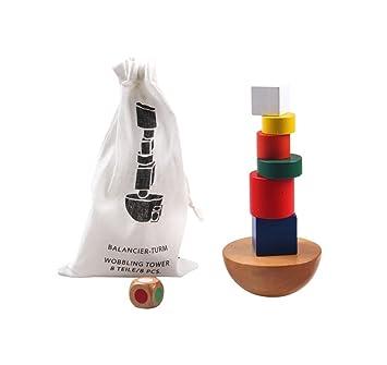 8587104f7 Montessori Toy - Torre de madera para apilar y equilibrar bloques de color  / naturaleza a