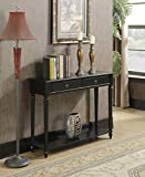 Convenience Concepts 7107099BL Nottingham Console Table, Black For Sale
