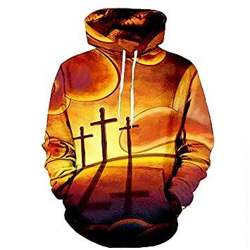 Cloudstyle sudaderas con capucha de los hombres cruzan la impresión 3D Hombre de jersey de manga larga de diseño fresco Tracksuits Plus 5XL: Amazon.es: ...