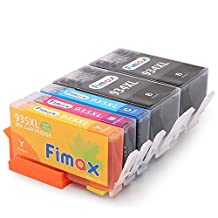 FiMax 1Set+1BK 5Packs New Updated Replacement for HP 934XL&935XL Black & Color Inkjet Ink(HP Officejet Pro 6830 6230 6815 6835 6812 6820 6220)