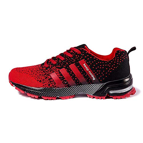 AHICO Running Shoes Men Athletic Outdoor Tennis Shoe Mens Jogging Walking Fashion Sneaker Red-2