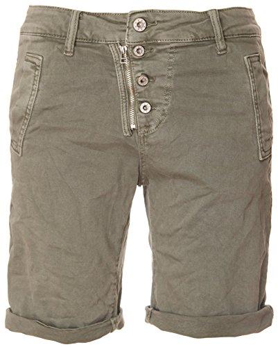 Khaki shorts de Basic reißverschluss 4 knopf Bermuda P76WpnWA