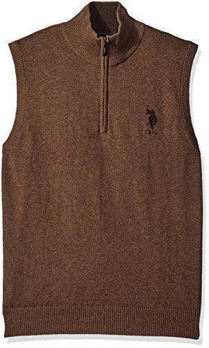 Brown 1/4 Zip Sweater - 7