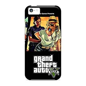 Snap-on Case Designed For Iphone 5c- Grand Theft Auto V 2013 Game