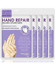 Hand Peel Mask 5 Pack, Moisturizing Gloves, Exfoliating Hand Peeling Mask, Hand Mask, Moisture Enhancing Gloves for Dry Hands, Repair Rough Skin Remove Dead Skin for Women or Men