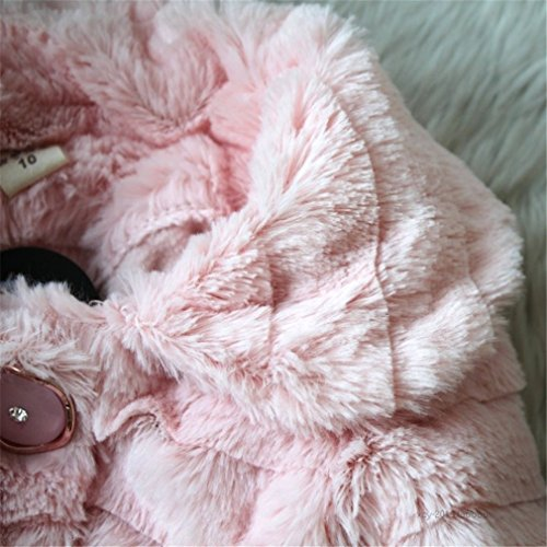 Kids Baby Girls Fleece Coat Winter Warm Jacket Outerwear (3 Years, Pink)