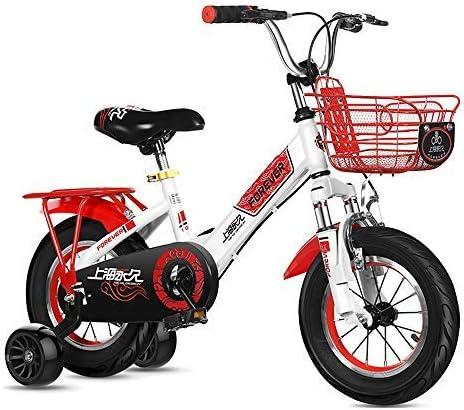 YSA キッズバイク折りたたみ式子供用自転車、サイズ12インチ、14インチ、4色、スタビライザー、マッドガード、ブラケット付き自転車