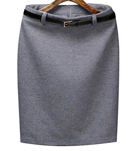 Women Elegant Hip Short Skirt Basic Skirt Ol Midi Pencil Skirt