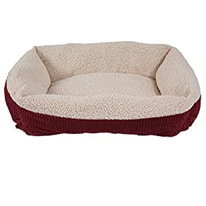 B00DJRCTPKK3J Aapen Pet Self Warming 30″ X 24″ Rectangular Lounger, Barn Red/Cream