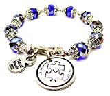 Autism Awareness Capped Crystal in Sapphire Blue Chubby Chico Charms Exclusive