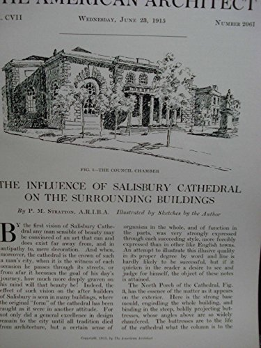 Article: the Influence of Salisbury Cathedral on the Surrounding - Pm Salisbury